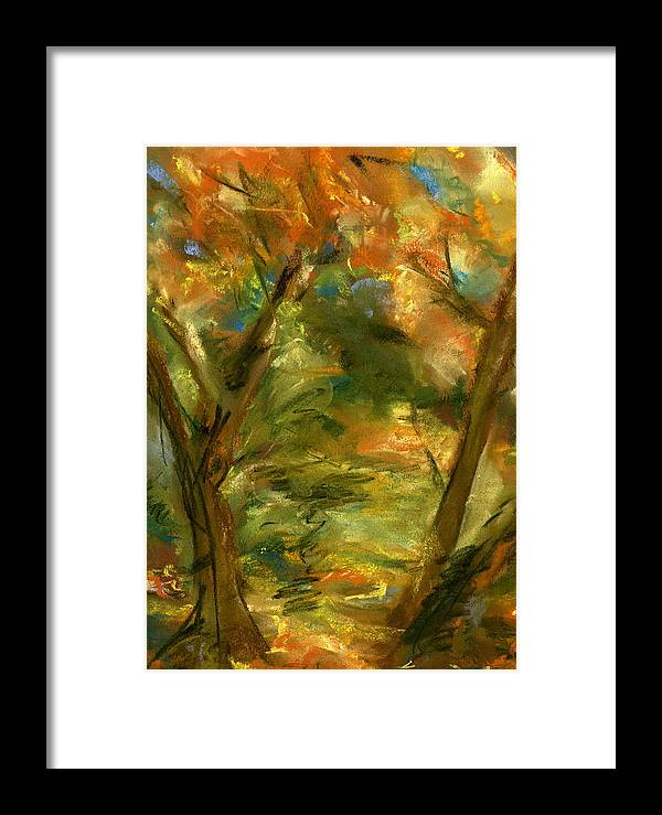 Colorful Framed Print featuring the painting Walk In The Park by Marilyn Barton