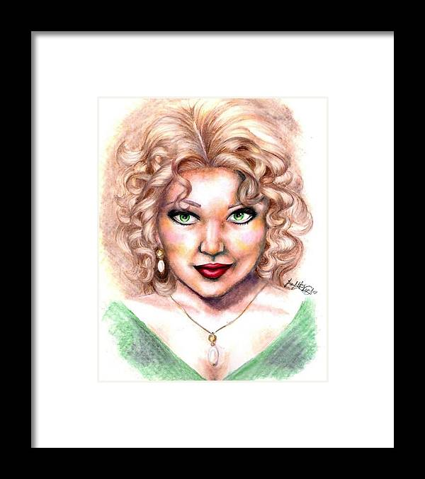 Portrait Framed Print featuring the drawing Walk On The Wild Side by Scarlett Royal