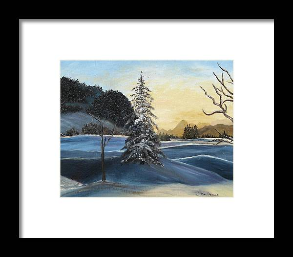 Landscape Framed Print featuring the painting Walk On Walk On by L A Raven