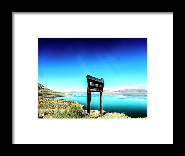 Rebecca Dru Framed Print featuring the photograph Walker Lake by Rebecca Dru