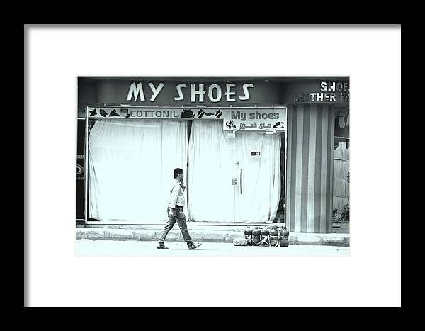 Jezcself Framed Print featuring the photograph Walkin In Them by Jez C Self