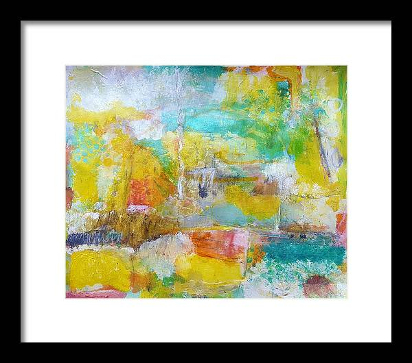 Abstract Framed Print featuring the painting Walking Home by Patricia Byron