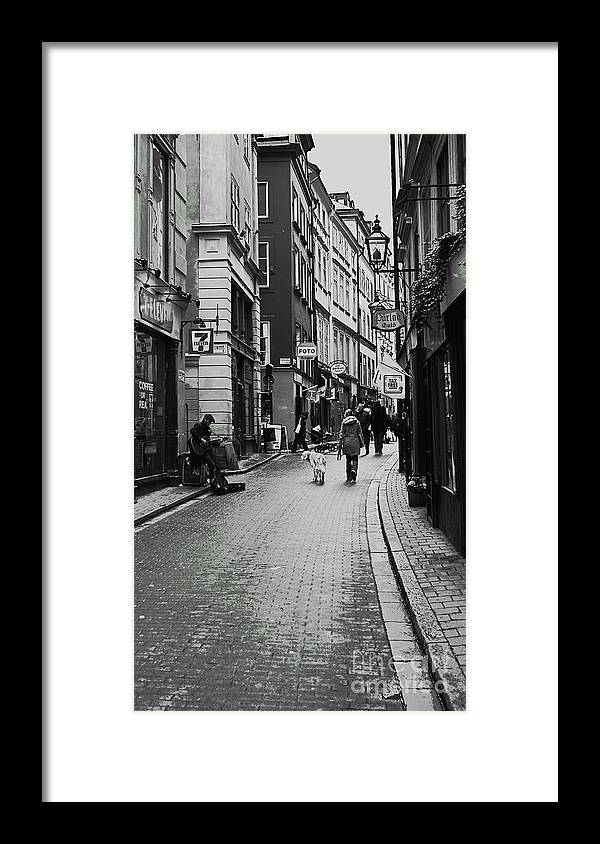 Stockholm Framed Print featuring the photograph Walking In Gamla Stan by Louise Fahy