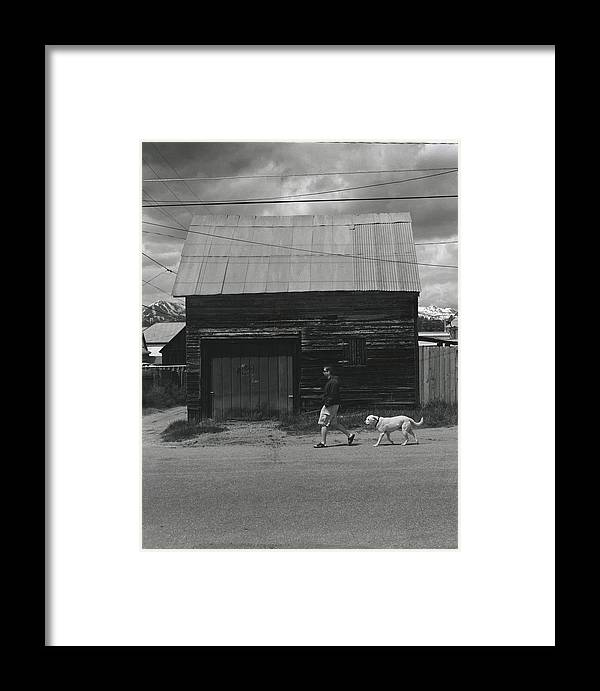 Walking Framed Print featuring the photograph Walking In Leadville by Jim Furrer