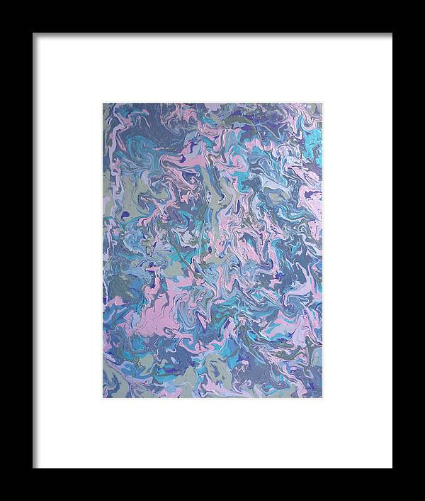 Abstract Framed Print featuring the painting Walking In Silence by Gregory Young