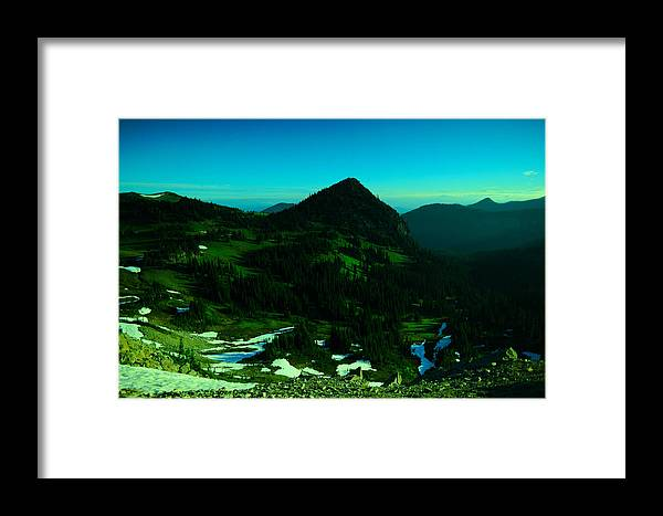 Mountains Framed Print featuring the photograph Walking In The Cascades by Jeff Swan