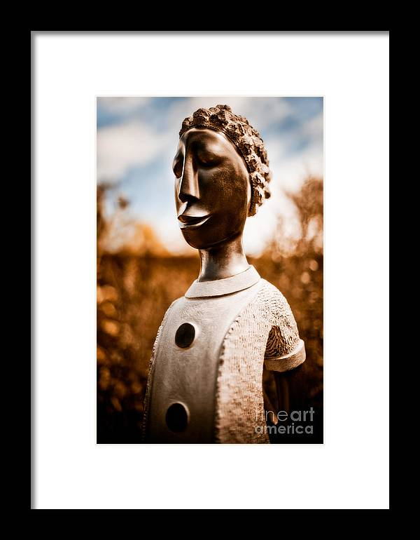 Art Framed Print featuring the photograph Walking On By by Venetta Archer