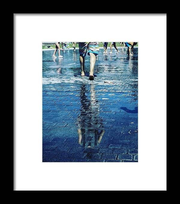 Man Framed Print featuring the photograph Walking On The Water by Nerea Berdonces Albareda