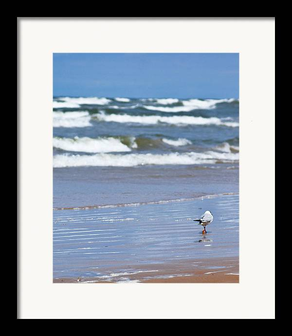 The Sea Framed Print featuring the photograph Walking On The Water by Vadim Grabbe