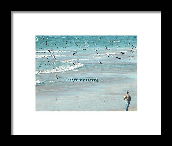 Beach Framed Print featuring the photograph Walking The Beach by Terri LeSaint-Keller