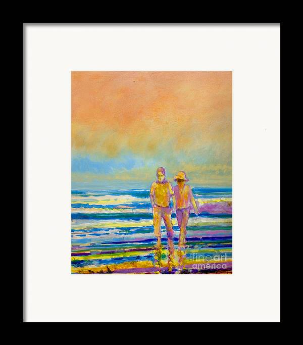Lovers Framed Print featuring the painting Walking Together by Kip Decker