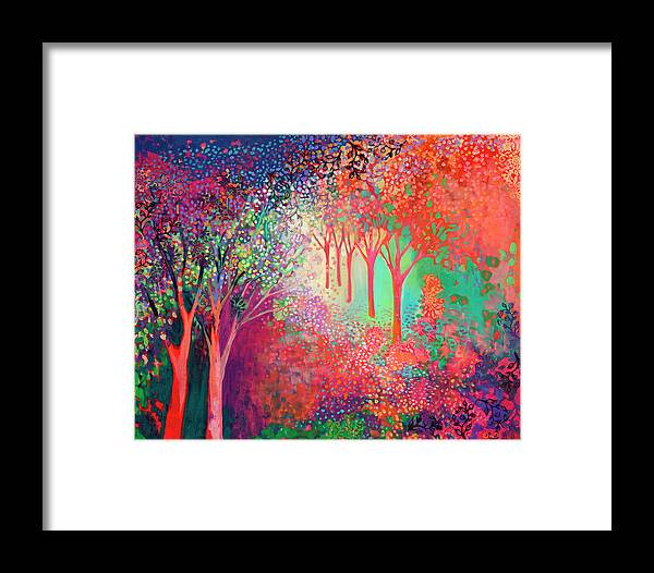 Tree Framed Print featuring the painting Walking Toward The Light by Jennifer Lommers