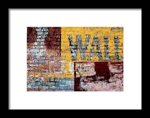 Brick Wall Framed Print featuring the photograph Wall by Curtis Staiger