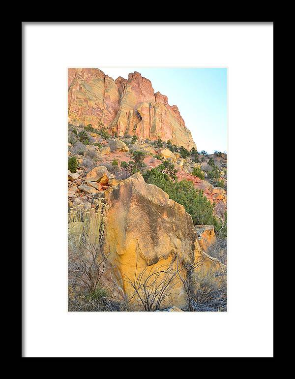 Grand Staircase Escalante National Monument Framed Print featuring the photograph Wall Of Color by Ray Mathis