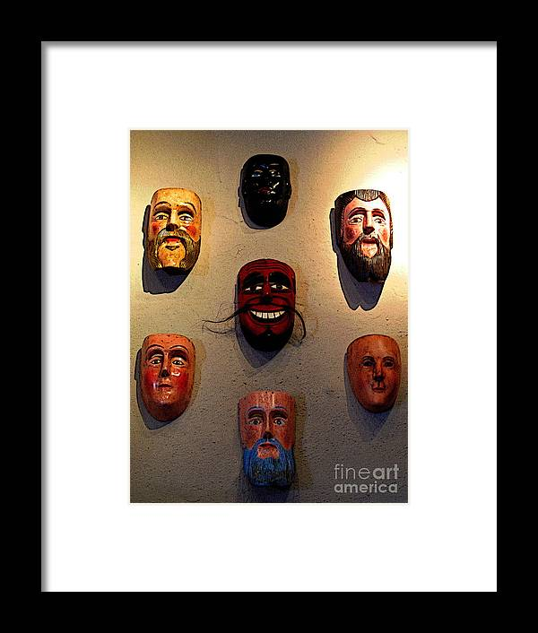Darian Day Framed Print featuring the photograph Wall Of Masks 2 by Mexicolors Art Photography