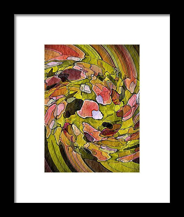 Nature Framed Print featuring the digital art Wall Of Nature by Terry Mulligan