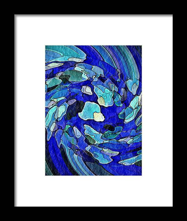 Wall Framed Print featuring the digital art Wall Of Water by Terry Mulligan