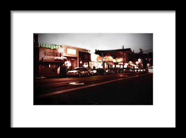 Long Island Framed Print featuring the photograph Wall Street by Michael Simeone