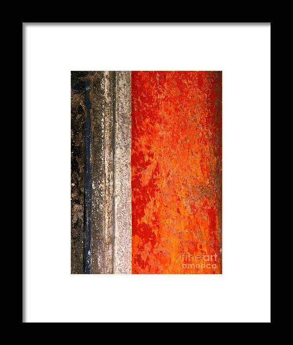 Michael Fitzpatrick Framed Print featuring the photograph Wall With Red By Michael Fitzpatrick by Mexicolors Art Photography