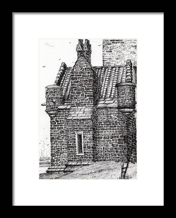 Wallace Monument The Small House Framed Print By Vincent Alexander Booth