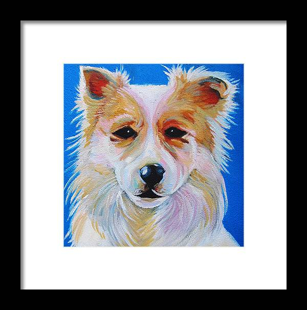 Walter Kuelbs Dog Painting Framed Print featuring the painting 'walter P. Kuelbs' by Steve Hunter