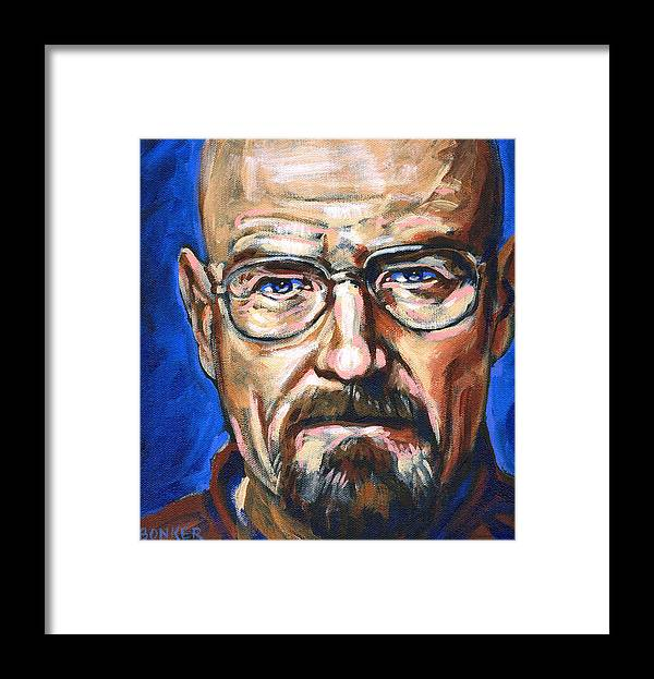 Breaking Framed Print featuring the painting Walter White by Buffalo Bonker