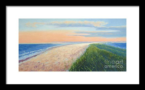 Landscape Framed Print featuring the painting Wanderlust by Laura Roberts