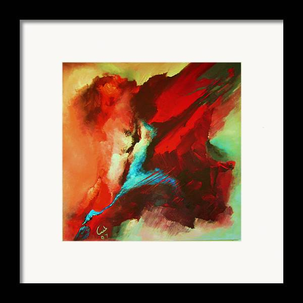 Framed Print featuring the painting War And Peace by Lamis Dachwali