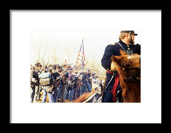 Action Framed Print featuring the photograph War by Michael Morrison