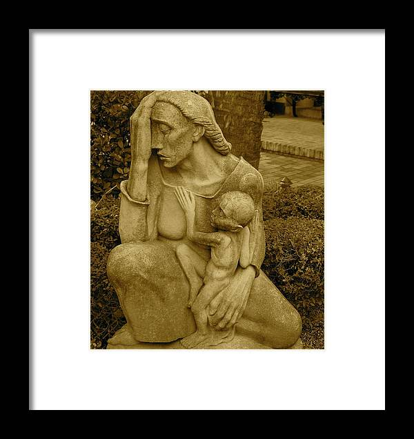 War Mother Framed Print featuring the photograph War Mother By Charles Umlauf by Gia Marie Houck