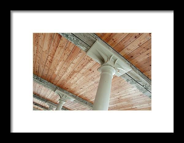 Helen Northcott Framed Print featuring the photograph Warehouse Columns by Helen Northcott