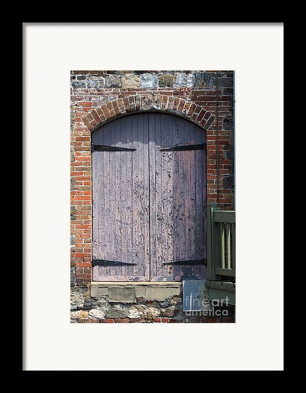 Wooden Framed Print featuring the photograph Warehouse Wooden Door by Thomas Marchessault