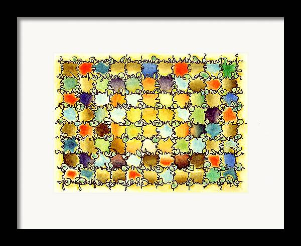 Abstract Framed Print featuring the painting Warm Light by Dave Martsolf