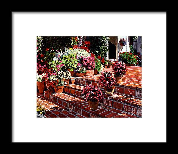 Patio Framed Print featuring the painting Warm Patio by David Lloyd Glover