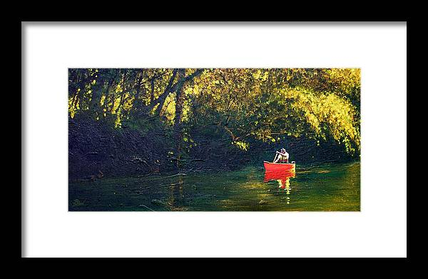 Impressionist Framed Print featuring the painting Warm Summer Shade by Bill Brown