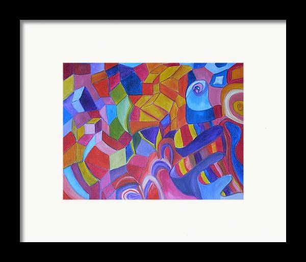 Framed Print featuring the painting Warms And Colds by Joseph Arico