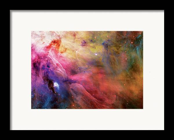 Nebula Framed Print featuring the photograph Warmth - Orion Nebula by Jennifer Rondinelli Reilly - Fine Art Photography