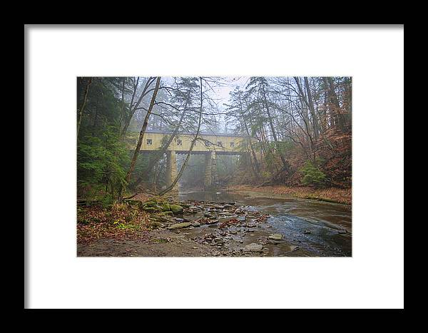 Ohio Framed Print featuring the photograph Warner Hollow Rd Covered Bridge by Jack R Perry