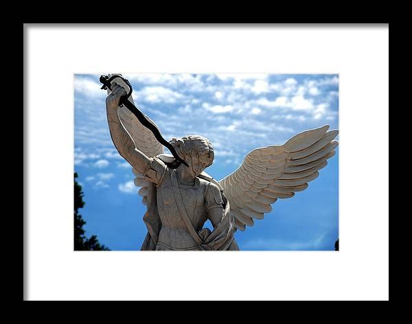 Warrior Framed Print featuring the photograph Warrior Angel by Susanne Van Hulst