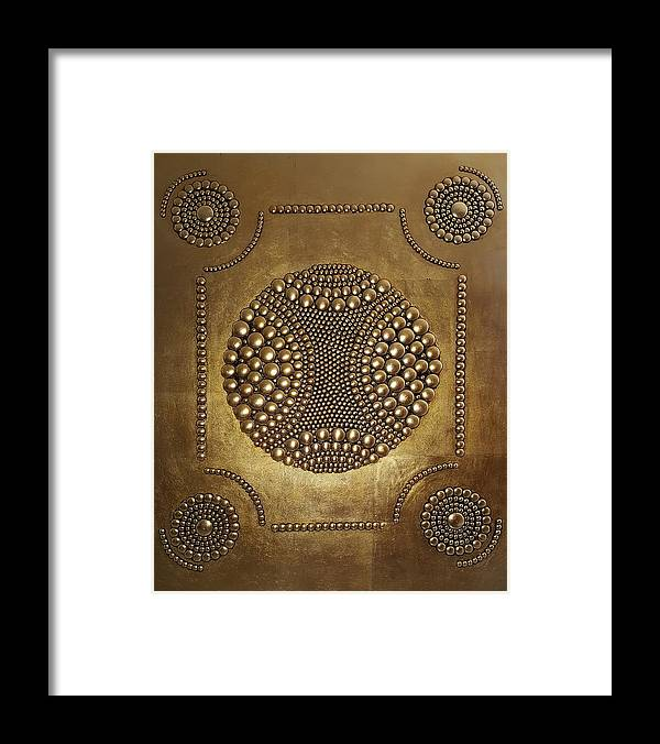 Abstract Framed Print featuring the painting  - Warrior Crest  - by Dusko Angel Trifunovic