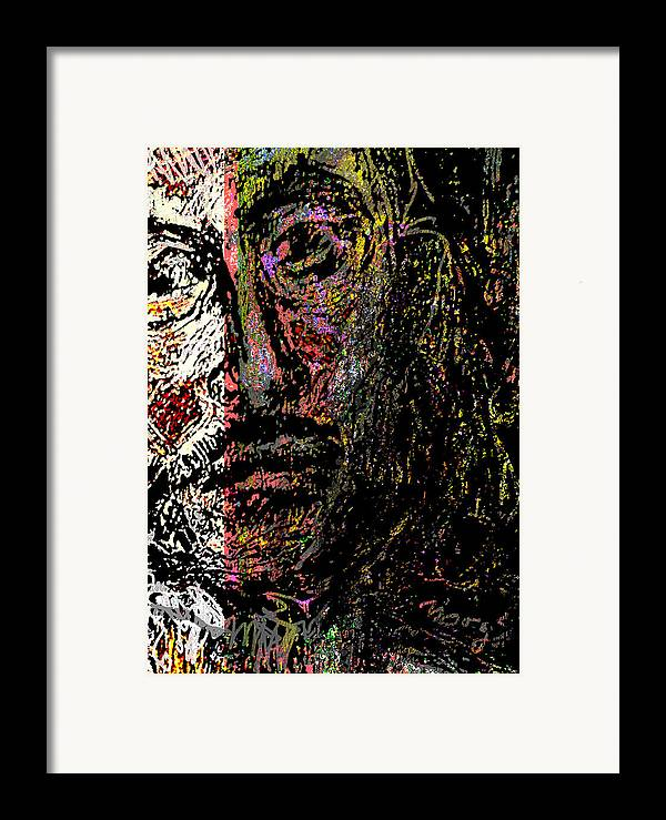 Self Portrait Framed Print featuring the painting Warrior Of Love by Noredin Morgan