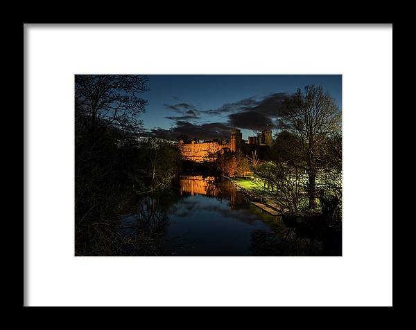 Warwick Castle Framed Print featuring the photograph Warwick Castle At Night by Nigel Forster