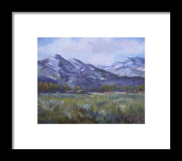 Mountains Framed Print featuring the painting Wasacth View by Ruth Stromswold