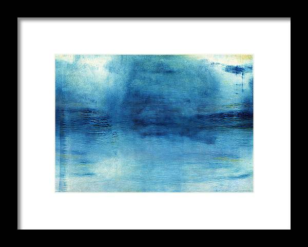 Blue Framed Print featuring the painting Wash Away- Abstract Art By Linda Woods by Linda Woods