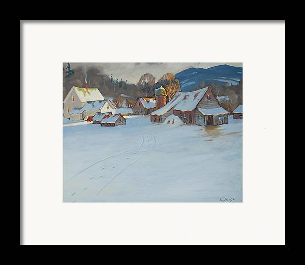 Berkshire Hills Paintings Framed Print featuring the painting Wash Day by Len Stomski