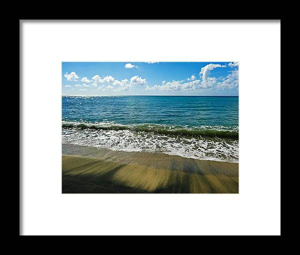 Waves Framed Print featuring the photograph Wash Out by Becki Kremer