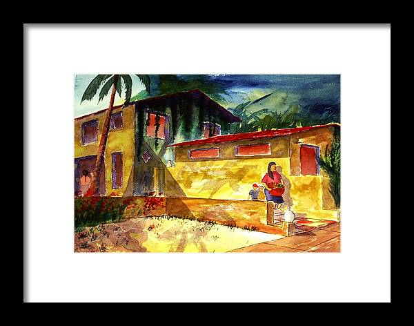 Mexico Framed Print featuring the painting Washer Women by Buster Dight