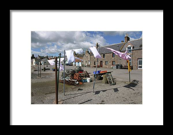 Johnshaven Framed Print featuring the photograph Washing Day by Mike Bambridge