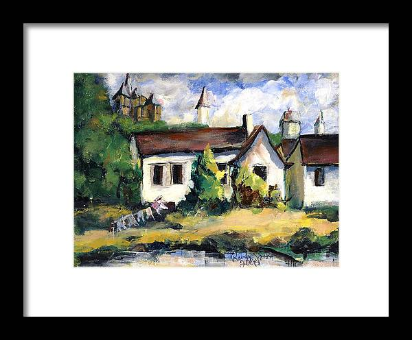Germany Framed Print featuring the painting Washing Day by Randy Sprout