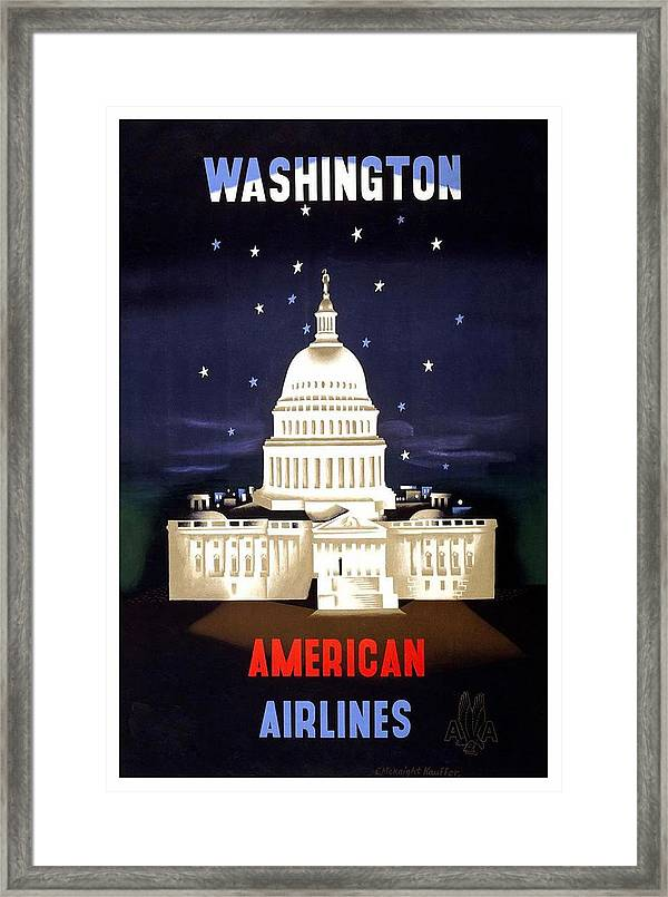 A151 Vintage//Retro WASHINGTON USA AIRLINE TRAVEL print//wall A4//A3 Re-print